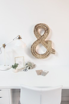 DIY // Jumbo Sequin Monogram