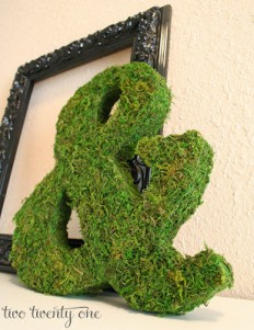 Mossy Ampersand Tutorial {&} {DIY} - Two Twenty One