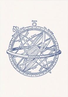 Nautical print poster Vintage compass n03 in par seasideprints