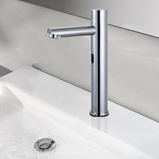 Contemporary Chrome Finish Brass Sensor Bathroom Sink Faucet - Faucetsmall.com | Bathroom Sink Faucets | Pinterest