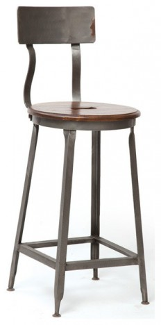 Wave Stool - Farmhouse - Bar Stools And Counter Stools - by Custom Furniture World