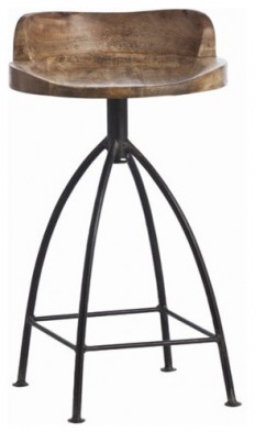 Arteriors Home Henson Swivel Counter Stool - Industrial - Bar Stools And Counter Stools - by Chachkies