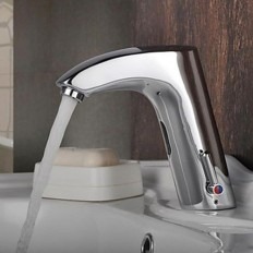 Chrome Finish Bathroom Sink Automatic Faucet with Sensor Activated(Hot and Cold) - Faucetsmall.com | Bathroom Sink Faucets | Pinterest
