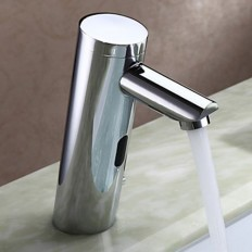Chrome Finish Bathroom Sink Faucet Brass finish with Automatic Sensor - Faucetsmall.com | Bathroom Sink Faucets | Pinterest