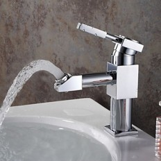 Contemporary One Hole Single Handle Centerset Rotatable Bathroom Sink Faucet - Faucetsmall.com | Bathroom Sink Faucets | Pinterest