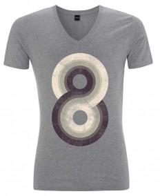 Eight als Männer V-Neck T-Shirt von Metron