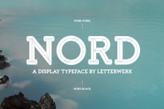 Nord Typeface ~ Display Fonts on Creative Market