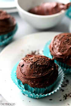 Devil's Food Cupcakes with Chocolate Frosting Recipe   Diethood