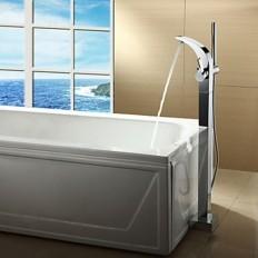 Chrome Finish Contemporary Single Handle Centerset Bathtub Faucet - FaucetSuperDeal.com | Bathtub Faucets | Pinterest