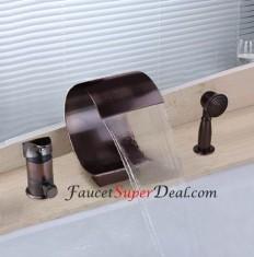 Oil-rubbed Bronze Finish Antique Waterfall Bathtub Faucet - FaucetSuperDeal.com | Bathtub Faucets | Pinterest