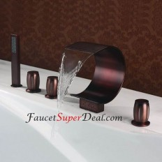 Oil-rubbed Bronze Finish Antique Style Waterfall Bathtub Faucet - FaucetSuperDeal.com | Bathtub Faucets | Pinterest