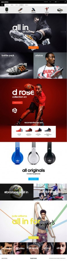 Adidas #webdesign #website #inspiration #layout | Web design | Pinterest