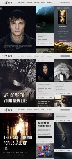 The 5th Wave | Web / UI Design | Pinterest