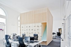 Wooden Playful Furniture Blocks in an Office – Fubiz™