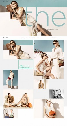Zara online redesign on