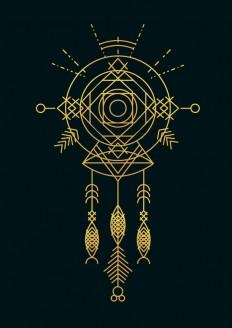 Cosmic Gold Dreamcatcher Art Print by Budi Satria Kwan | Society6