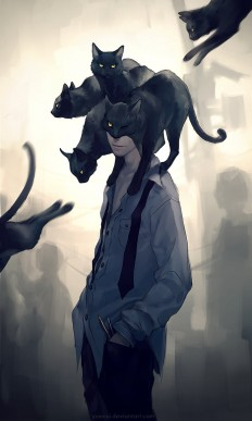 The Black Cat by yuumei on Inspirationde