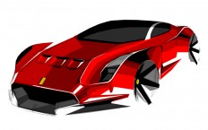 Ferrari Concept Design Sketch - Car Body Design