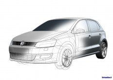 VW Polo Design CAD Rendering - Car Body Design