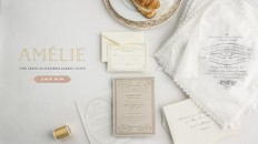Lucky Luxe Couture Correspondence | Letterpress Wedding Stationery