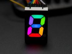 """RGB 7-Segment Digit - 1"""" Tall Digit"""