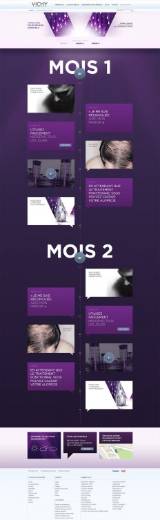 Unique Web Design, Vichy Laboratoires via @projim0524 #WebDesign #Design | Webdesign présentations | Pinterest