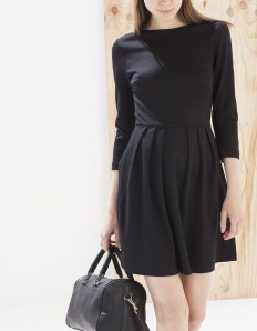Dress with full skirt and back zip detail - DRESSES - Stradivarius Serbia