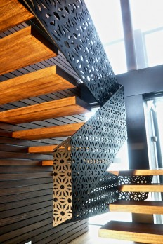 Fold – balustrade – mild steel – private residence Richmond Melbourne on Inspirationde