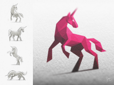 Licorne Rose / Pink Unicorn by simc