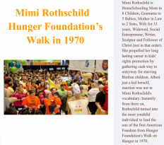 Mimi Rothschild | Hunger Walk: Mimi Rothschild - Hunger Foundation's Walk in 1970