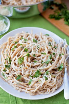 Lightened Up Fettuccine Alfredo - Life Made Simple