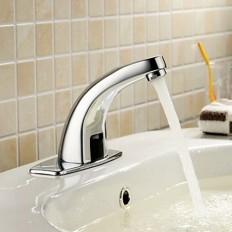 Solid Brass Bathroom Sink Faucet with Automatic Sensor(Cold) | Automatic /Sensor Faucets | Pinterest