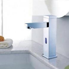 Brass Contemporary Sensor Bathroom Sink Faucet Chrome Finish Automatic Sensor - FaucetSuperDeal.com | Automatic /Sensor Faucets | Pinterest