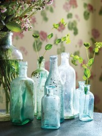 of beauty / love glass bottles.