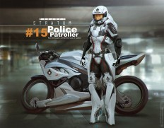ArtStation - Project Stratum - Police patroller, Bjorn Hurri