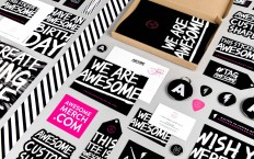 Brand New: New Logo and Identity for Awesome Merchandise by Robot Food