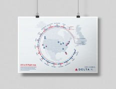 UK to US Flight Map on