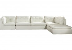 Sofia Vergara Valleta White 6 Pc Sectional - Sectionals