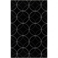 Shop Artistic Weavers Slough Rectangular Black Geometric Tufted Area Rug (Common: 5-ft x 8-ft; Actual: 5-ft x 8-ft) at Lowes.com