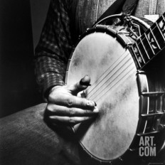 Country Music: Close Up of Banjo Being Played Photographic Print by Eric Schaal at Art.com