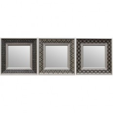 Threshold™ Trio Mirror - Black Tonal 10X10 : Target