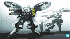 ArtStation - Armored combat drone soldiers, Jang wook Kim