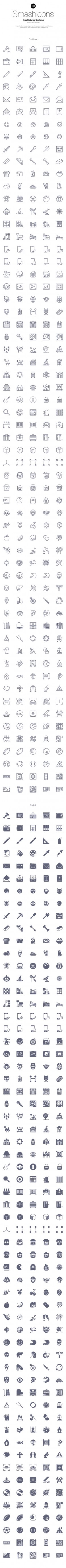 Smashicons: 300 Free Icons | GraphicBurger