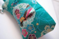 Lace Turquoise Zipper Wristlet by LemidiJapon on Etsy