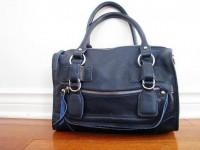 Leather bag clip on laptop messenger satchel purse by Adeleshop