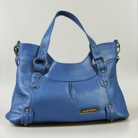 Blue Lambskin Shoulder Bag Victoria by paulinacarcach on Etsy