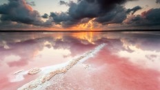 Amazing Pink Salt Lake - Photography Wallpapers