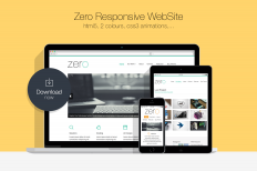 Zero • Responsive HTML5 WebSite ~ Website Templates on Creative Market