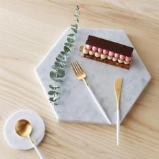 Matt White Gold 24 Piece Cutlery Set - Merchandise - TCH Store