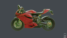 7.5k Tri Ducati-ish Motorcycle! - Polycount Forum